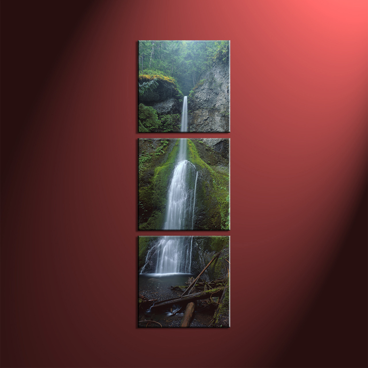 Home Decor 3 Piece Wall Art Landscape Multi Panel Forest