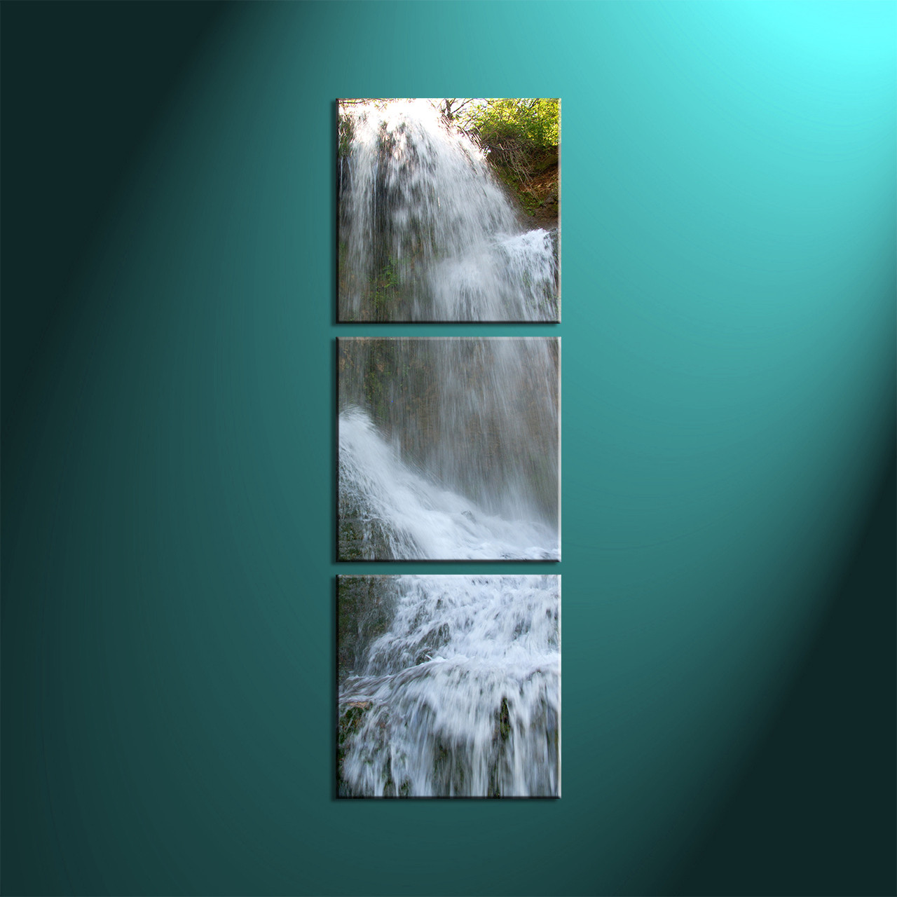 Waterfall Wall Art triptych white waterfall scenery group canvas