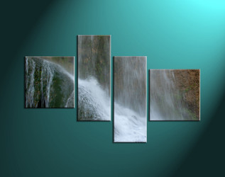4 Piece White Waterfall Scenery Wall Decor