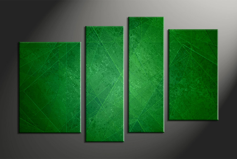 4 piece canvas abstract green artwork. Black Bedroom Furniture Sets. Home Design Ideas