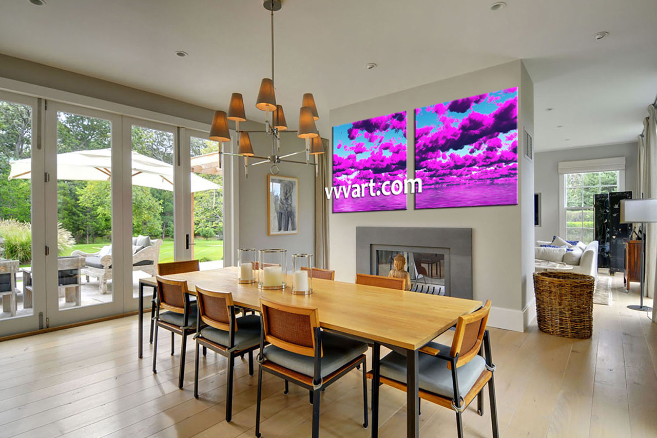 Dining Room Art 2 Piece Canvas Prints Abstract Print