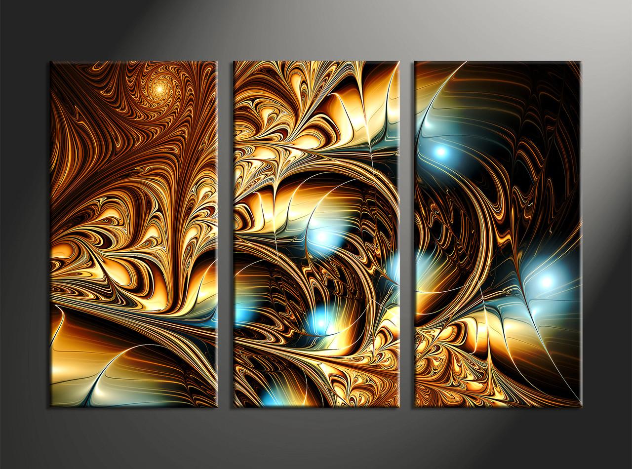 Abstract Wall Art 3 Piece Yellow Canvas Abstract Wall Art