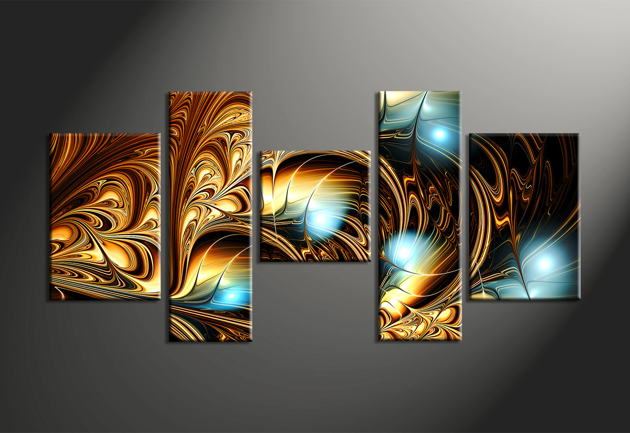 Home Decor, 5 Piece Wall Art, Abstract Multi Panel Art, Abstract Canvas Art
