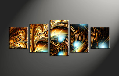 home decor, 5 Piece Wall Art, abstract multi panel art, abstract canvas art prints, abstract canvas photography