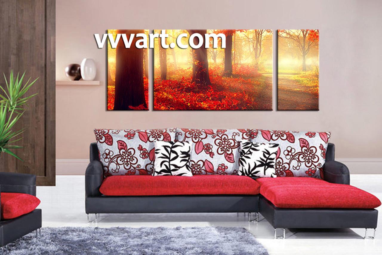 landscape large pictures living room art 3 piece canvas wall art nature multi