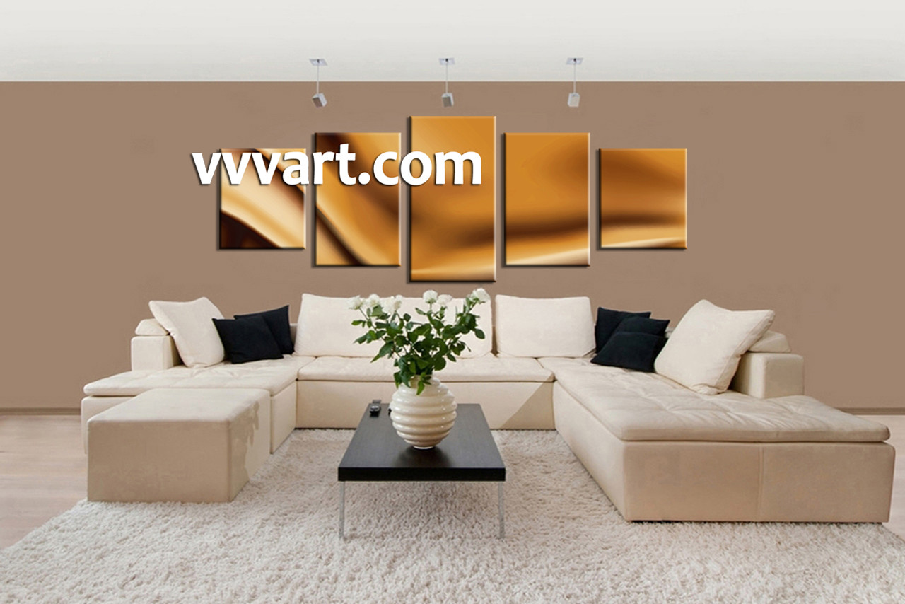 5 piece abstract brown wall decor for 5 piece mural