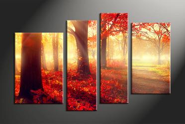 home decor,4 piece canvas art prints, nature canvas print, landscape canvas print,  scenery large canvas