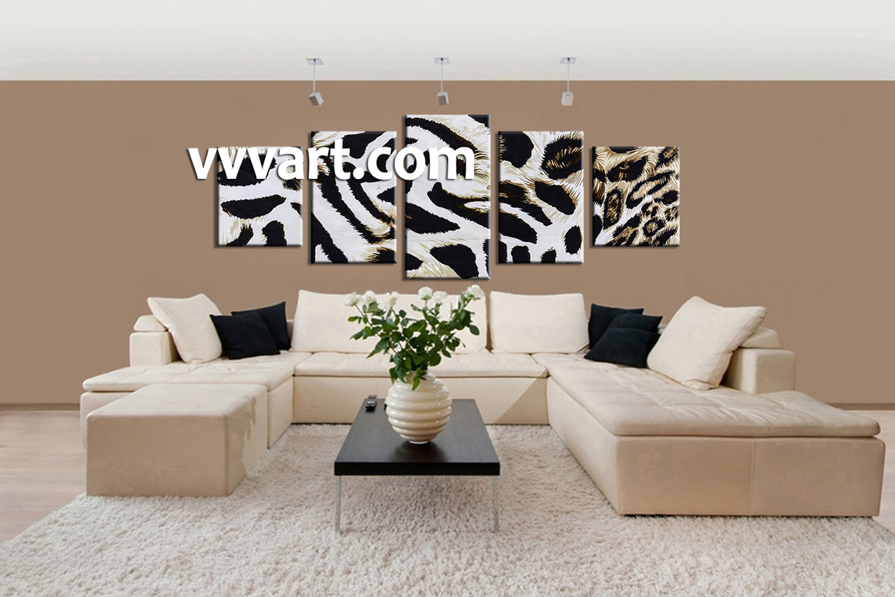 5 piece canvas wildlife leopard skin white huge pictures living room wall art 5 piece wall art wildlife multi panel art scenery amipublicfo Images