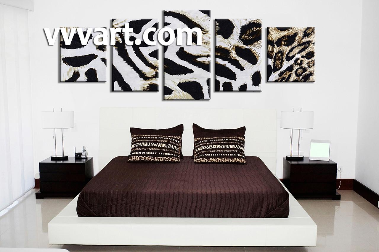 bedroom wall art5 piece canvas art prints animal canvas print leopard skin & 5 Piece Canvas Wildlife Leopard Skin White Huge Pictures