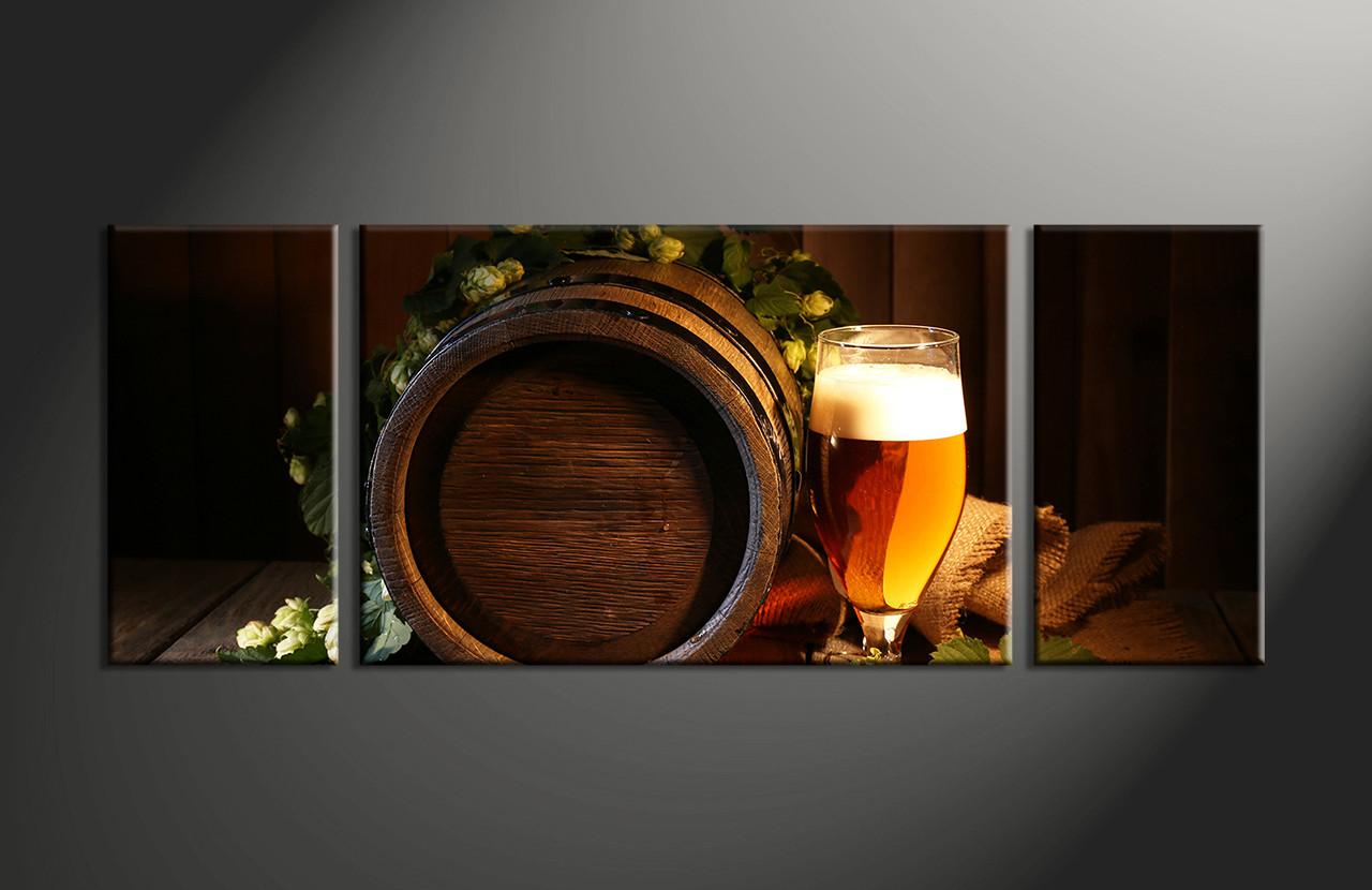 3 piece brown modern wine canvas photography