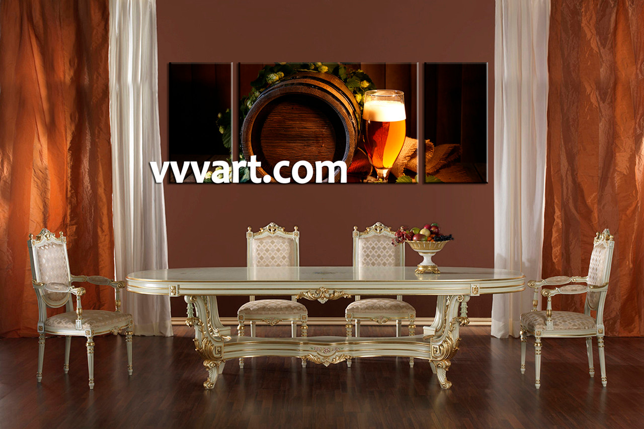 Dining Room Wall Art, 3 Piece Canvas Art Prints, Abstract Canvas Print, Wine Part 57