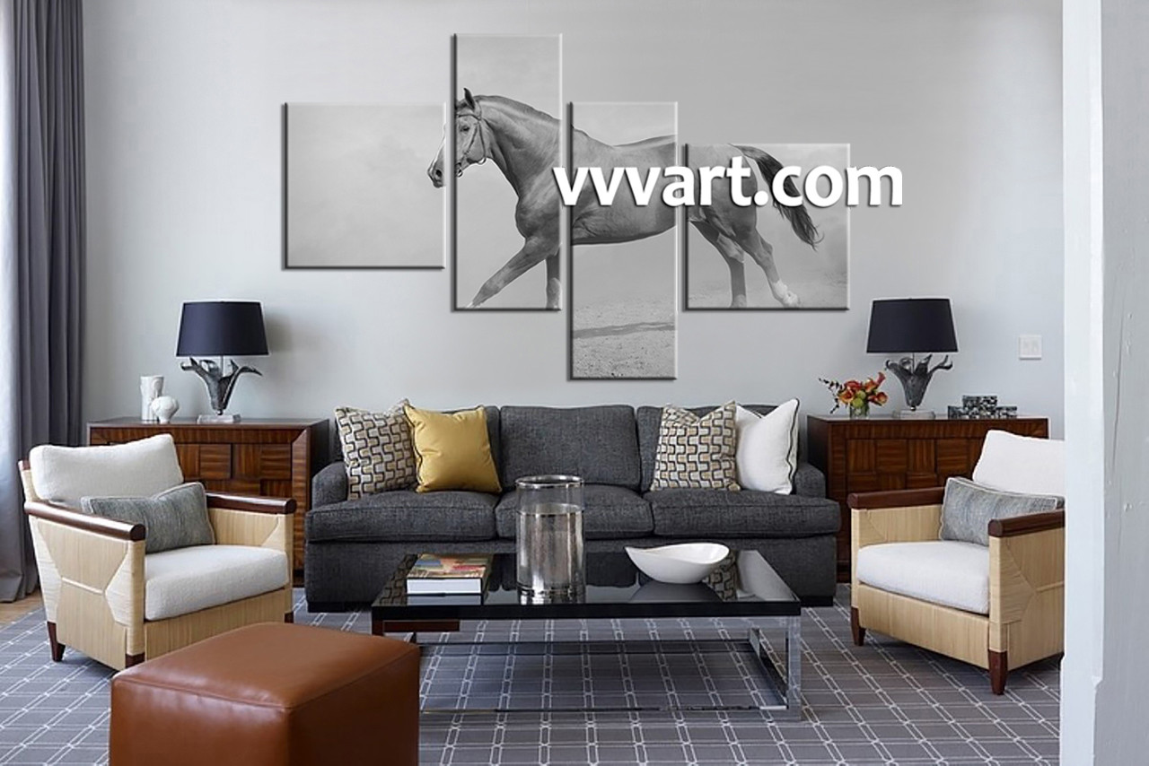 Large Living Room Art Part - 20: Living Room Art, 4 Piece Large Pictures, Animal Huge Canvas Art, Wildlife  Wall