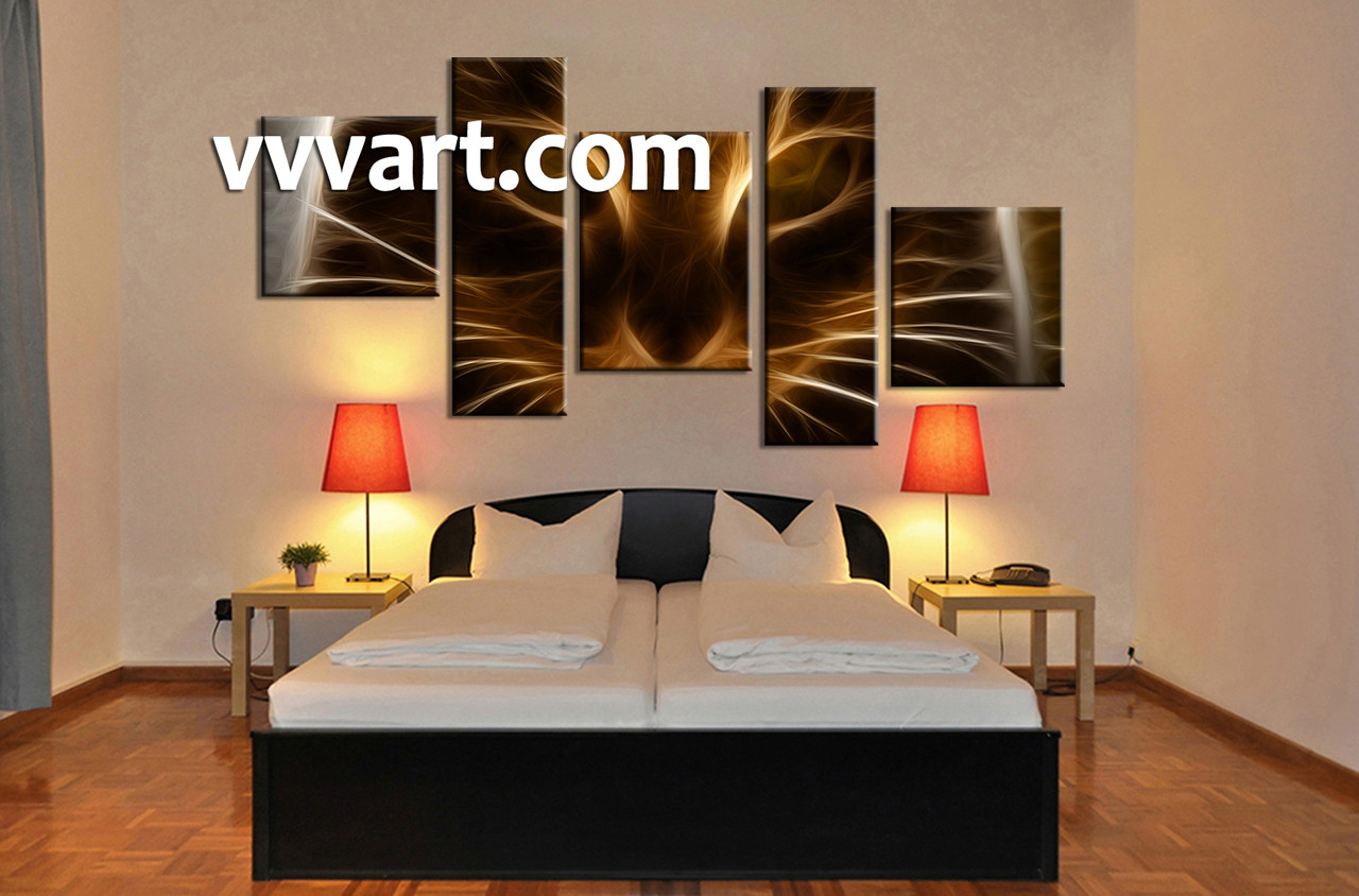 Bedroom Wall Decor 5 Piece Art Abstract Multi Panel Huge
