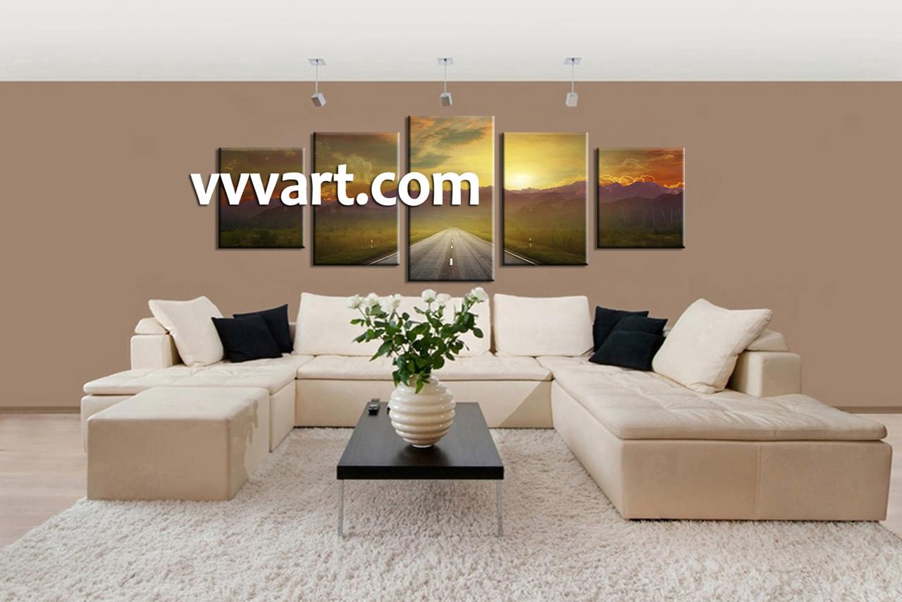 Attractive Living Room Artwork, 5 Piece Decor, Pathway Multi Panel Art, Scenery Wall  Art Part 26