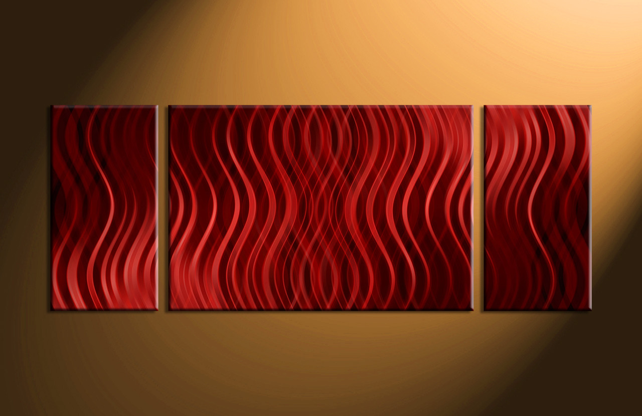 Abstract Canvas Wall Art 3 piece red abstract canvas photography