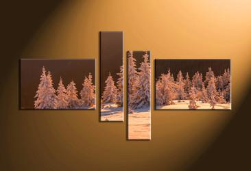 home decor,4 piece canvas art prints, landscape pictures, nature multi panel art,  fig tree large canvas