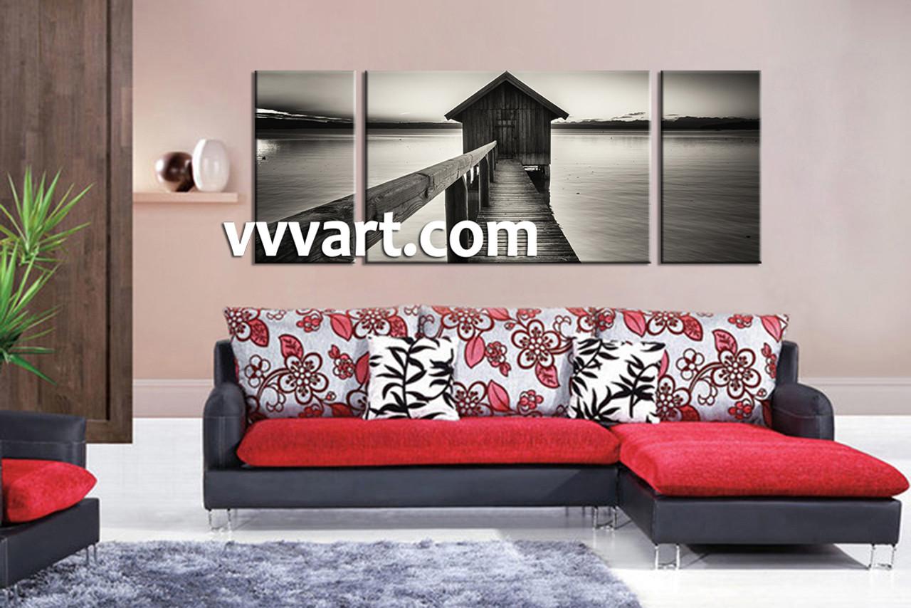 Captivating Living Room Art, 3 Piece Canvas Wall Art, Ocean Wall Pictures, Ocean Photo Part 4