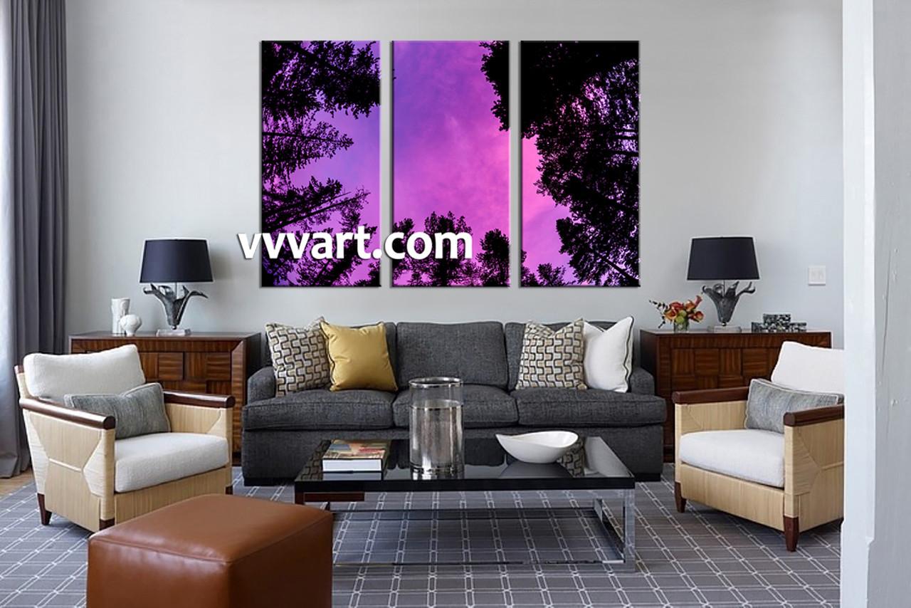 Living Room Canvas Art Part - 29: Living Room Canvas Art Prints, 3 Piece Decor, Nature Multi Panel Art,  Scenery