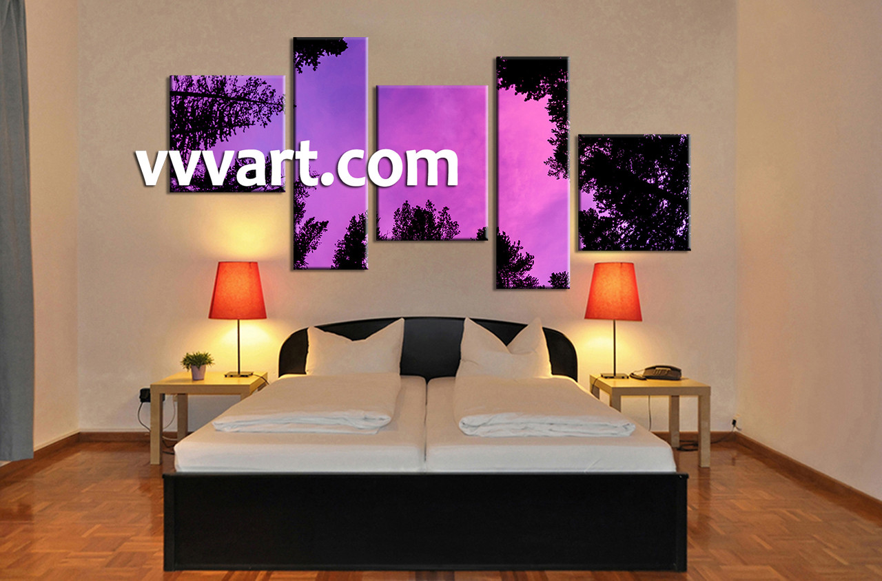 Bedroom Wall Decor 5 Piece Pictures Mountain Large Scenery Huge