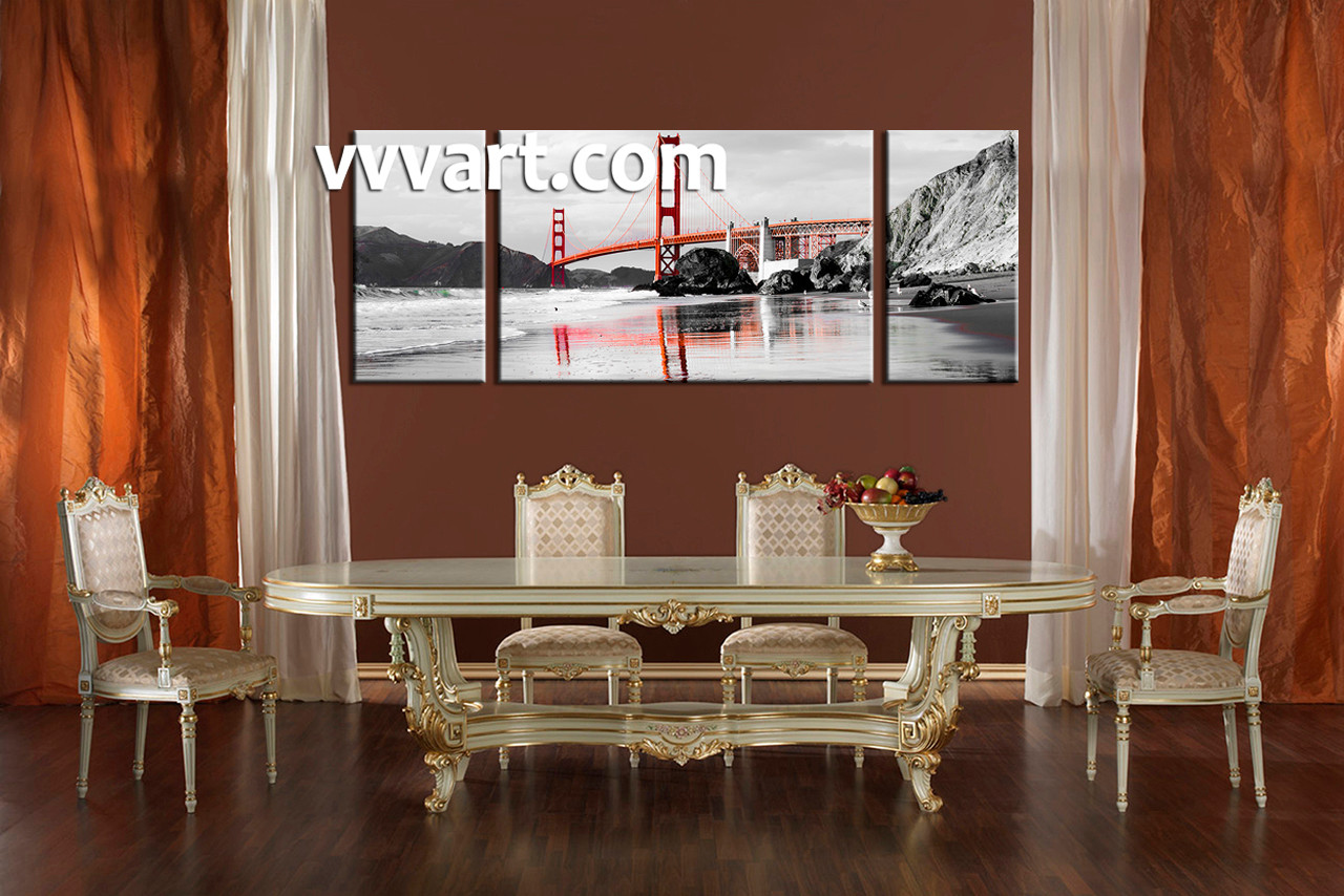 Dining Room Art 3 Piece Canvas Prints Landscape Pictures City