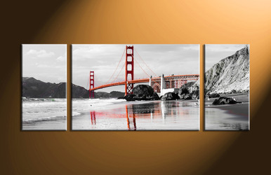 Home Décor, 3 piece canvas art prints, black and white multi panel canvas, landscape large canvas, city group canvas