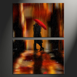 Home Wall Decor, 2 piece canvas art prints, abstract wall decor, abstract wall art, umbrella photo
