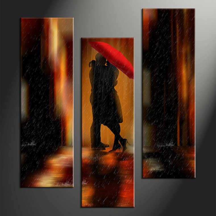3 piece modern red umbrella wall decor for 3 piece wall art