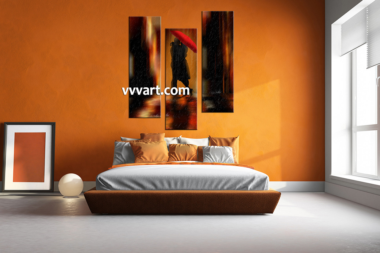 Bedroom Wall Decor, 3 Piece Wall Art, Modern Canvas Photography, Couple Wall  Art