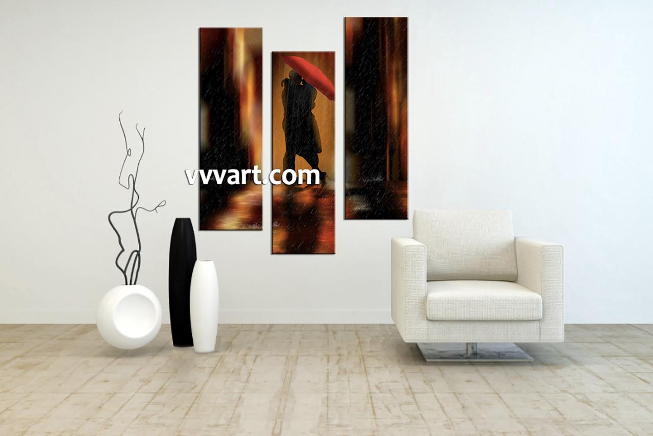 Living Room Wall Art, 3 Piece Canvas Wall Decor, Abstract Canvas Art Prints,
