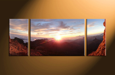 home wall decor, 3 piece canvas art prints, landscape artwork, landscape large canvas, sunrise wall art