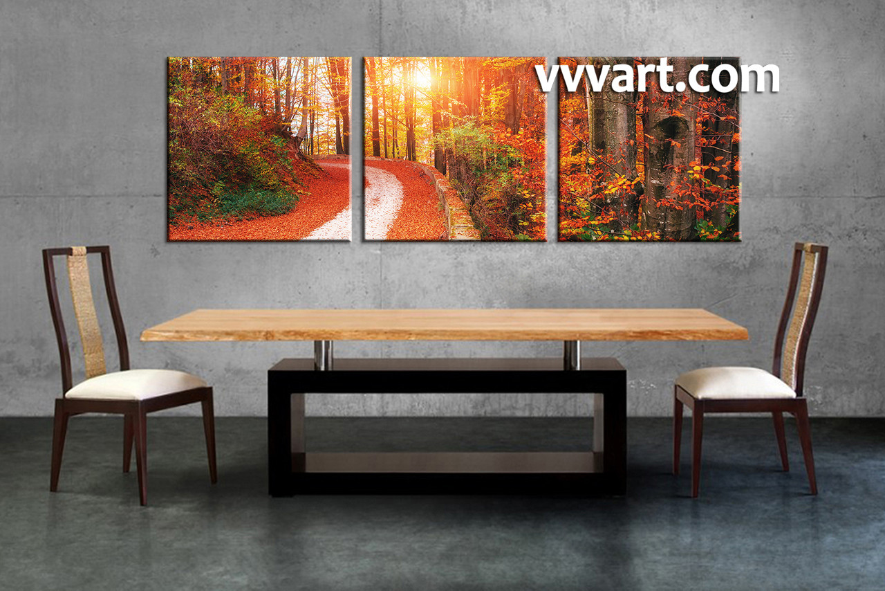 Dining Room Art 3 Piece Canvas Prints Landscape Large Pictures Scenery Multi