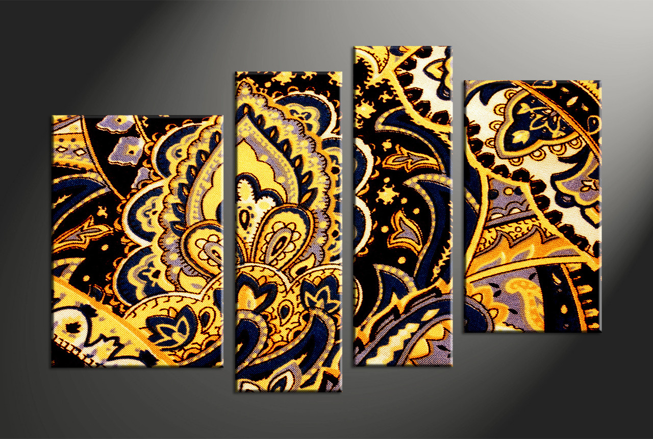 Home Decor, 4 piece canvas art prints, abstract multi panel art, abstract  canvas