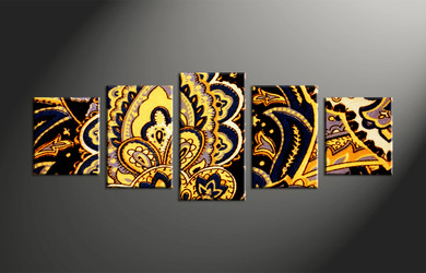 5 piece canvas abstract colorful large pictures for 5 piece mural
