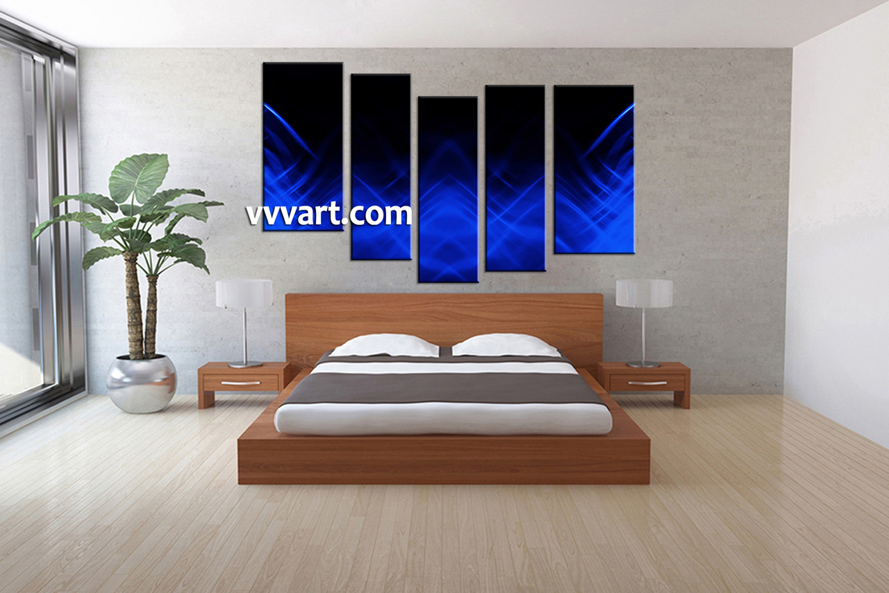 Bedroom Decor, 5 Piece Wall Art, Abstract Pictures, Abstract Art, Abstract  Huge