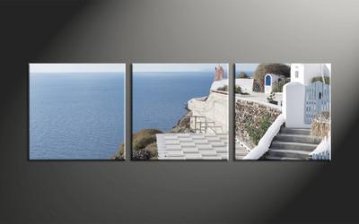 home decor 3 piece canvas art prints house canvas art prints ocean huge - Ocean Home Decor