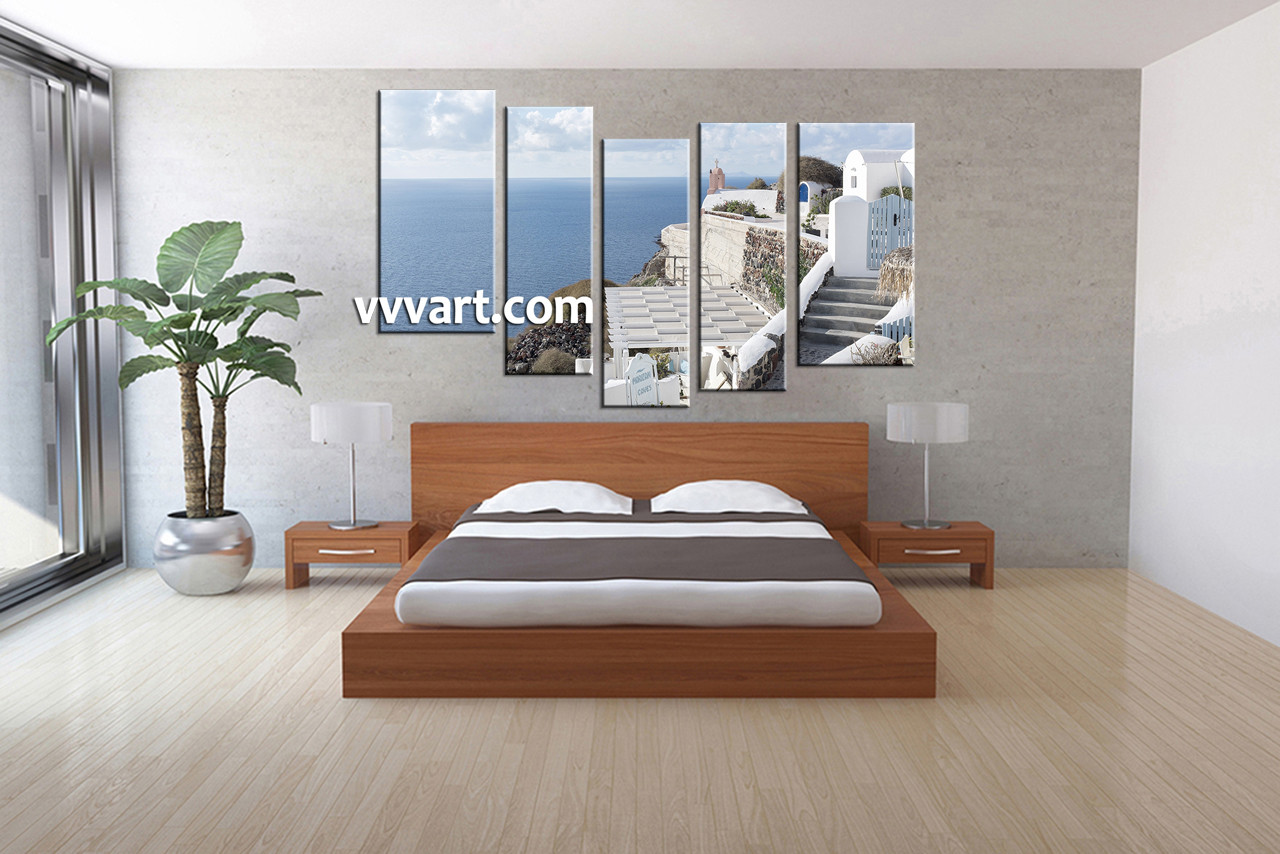 Ocean Home Decor inspirations on the horizon coastal aqua decor Bedroom Photo Canvas 5 Piece Wall Art Ocean Wall Art Scenery Wall Dcor