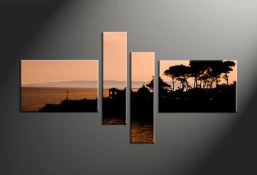 Home Décor, 4 piece canvas art prints, landscape multi panel art, scenery large canvas, landscape decor