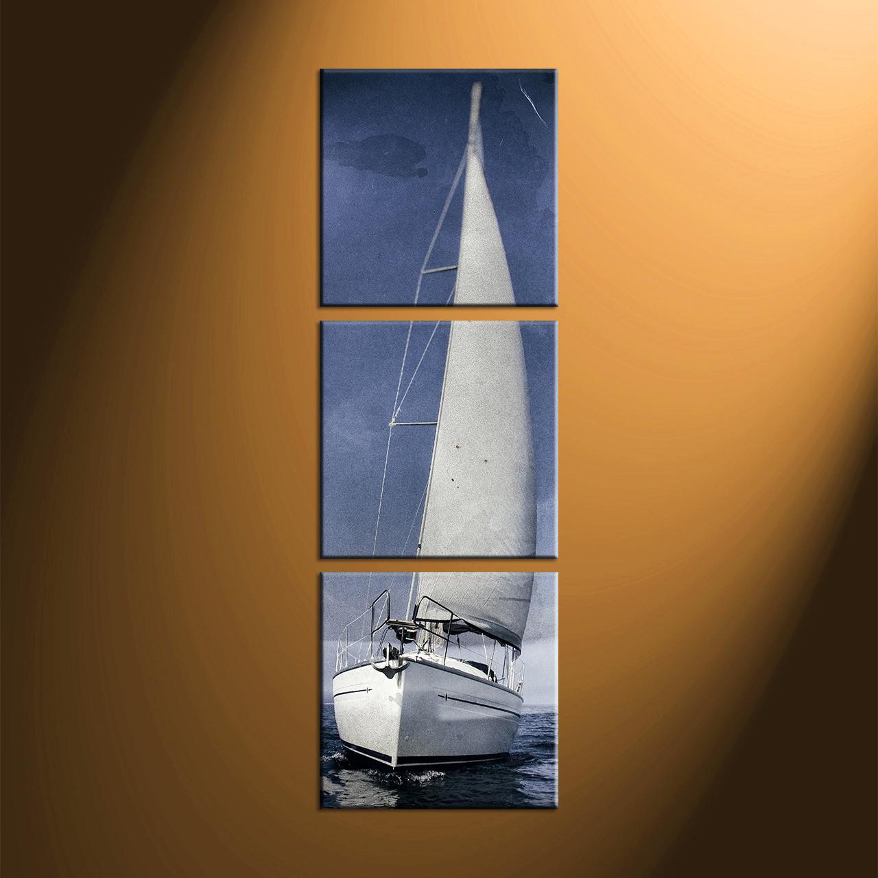 Home Decor, 3 Piece Canvas Art Prints, Ocean Large Canvas , Ocean Artwork,