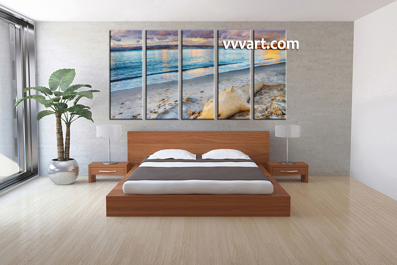 Ocean Decor For Bedroom 5 Piece Blue Canvas Ocean Decor