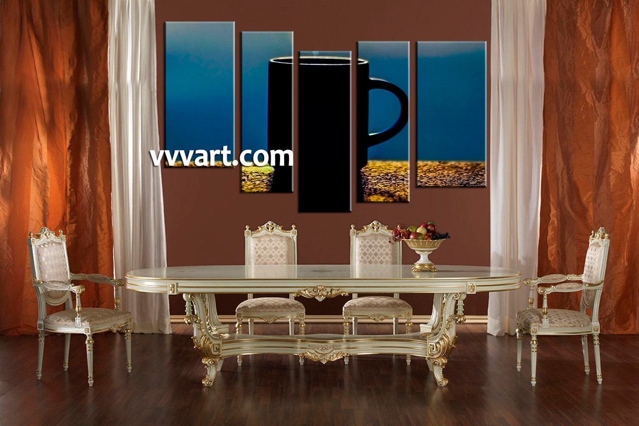 Dining Room Art 5 Piece Canvas Prints Modern Wall Artwork