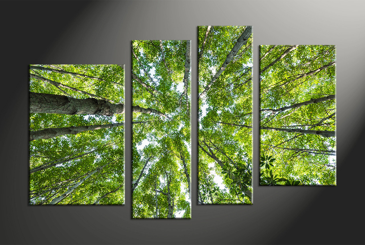 Home Decor, 4 Piece Canvas Wall Art, Forest Multi Panel Canvas, Scenery  Canvas