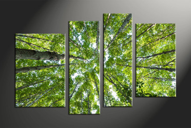 home decor, 4 piece canvas wall art, forest multi panel canvas, scenery canvas art, nature group canvas