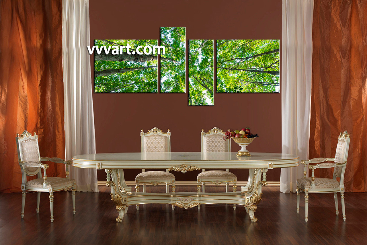Dining Room Art 4 Piece Canvas Printsnature Print Scenery Group