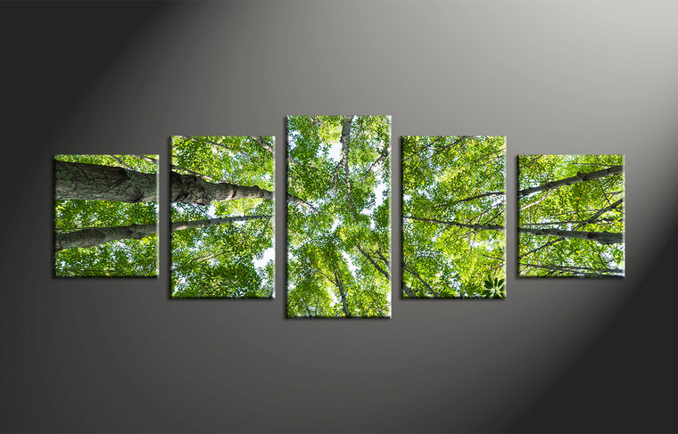 Tree Canvas Wall Art 5 piece green leafy scenery trees canvas wall art