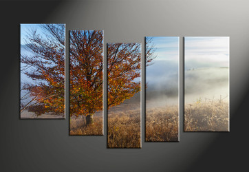 home decor, 5 piece pictures, landscape large pictures, scenery huge canvas art, tree large pictures