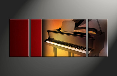 home decor, 3 piece canvas art prints, music artwork, piano large canvas, instrument wall decor