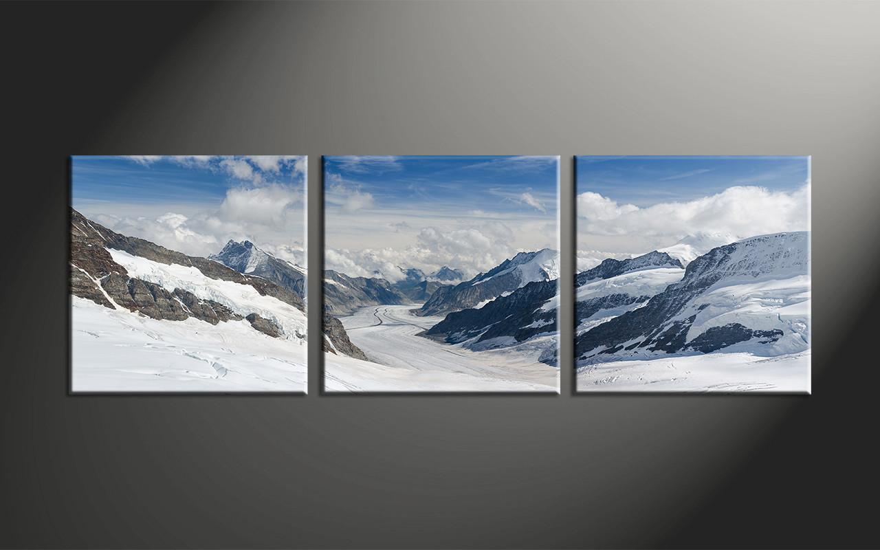 Home Decor, 3 Piece Large Pictures, Mountain Canvas Print, Landscape Canvas  Wall Art