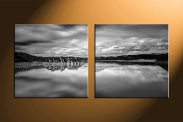 home decor, 2 piece canvas art prints, landscape canvas art prints, black and white huge canvas art, mountain canvas wall art