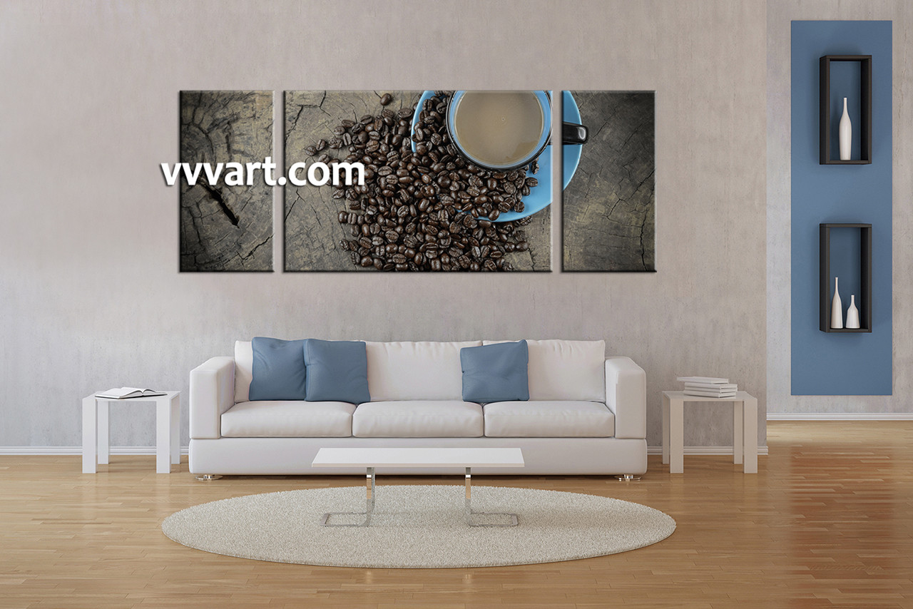 Multi Piece Canvas Wall Art 3 piece kitchen brown coffee canvas wall art