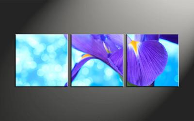 home decor, 3 piece canvas art prints, floral artwork, flower large canvas, lily wall decor